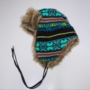 Mossimo Faux fur lined hat